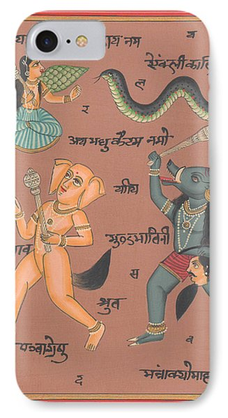 Hindu Goddess Durga Tantric Artwork Painting Art Gallery India Novica  Traditional  IPhone Case by A K Mundhra