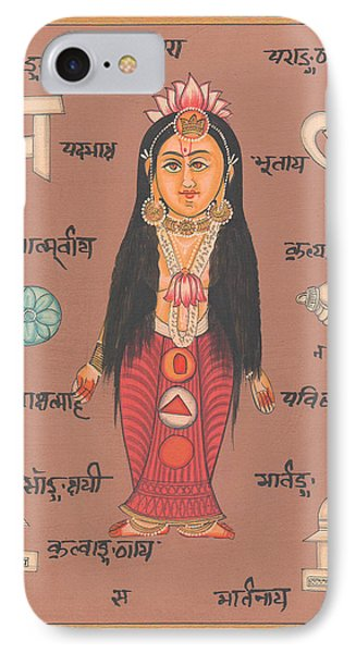 Hindu Goddess Of Welth Laxmi Artwork Painting Watercolor Germany  IPhone Case by A K Mundhra
