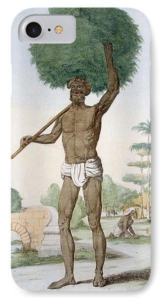 Hindu Servant Cutting Grass, The IPhone Case by Franz Balthazar Solvyns