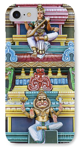 Hindu Temple Deity Statues Phone Case by Tim Gainey