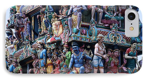 Hindu Temple In Singapore 1 IPhone Case by Carl Purcell