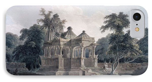 Hindu Temple In The Fort Of The Rohtas IPhone Case by Thomas & William Daniell