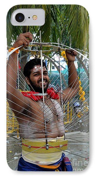 IPhone Case featuring the photograph Hindu Thaipusam Festival Pierced Devotee  by Imran Ahmed