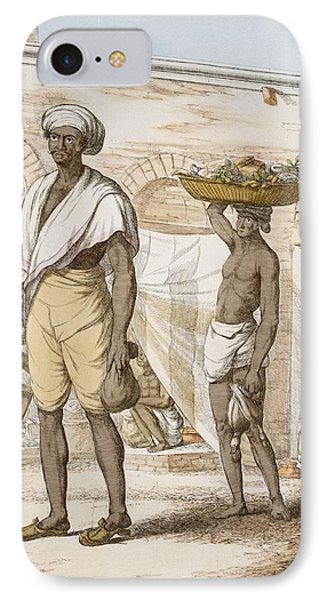 Hindu Valet Or Buyer Of Food, From The IPhone Case by Franz Balthazar Solvyns