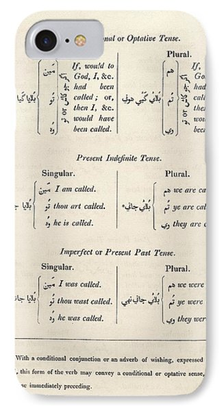 Hindustani Grammar IPhone Case by Middle Temple Library