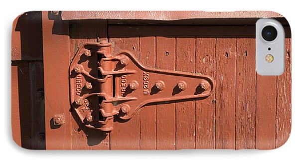 IPhone Case featuring the photograph Hinge On Railcar by Douglas Pike