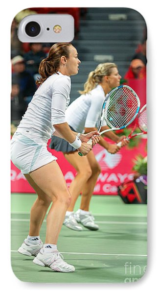 Hingis And Kirilenko In Doha IPhone Case by Paul Cowan