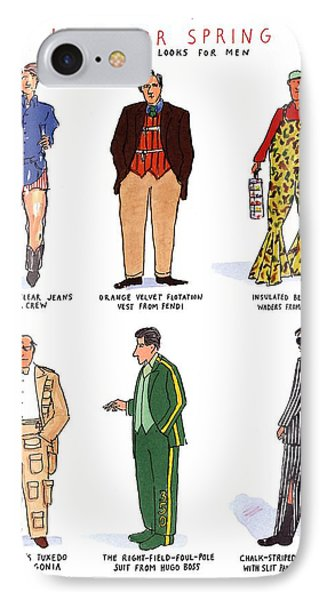 Hip For Spring Six Great Looks For Men IPhone Case by Michael Crawford