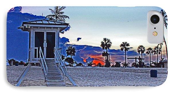 Hippie Beach IPhone Case by Alison Tomich