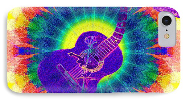 Hippie Guitar Phone Case by Bill Cannon