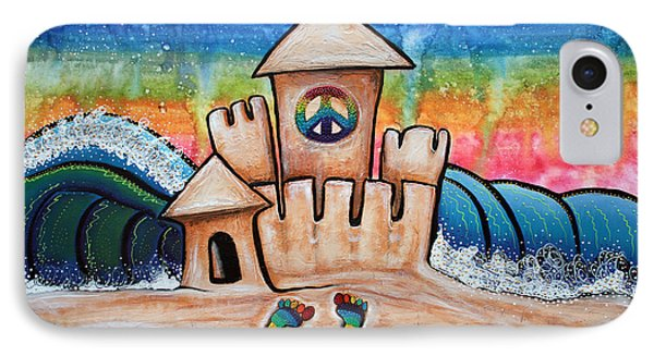 Hippie Sand Castle IPhone Case by Laura Barbosa