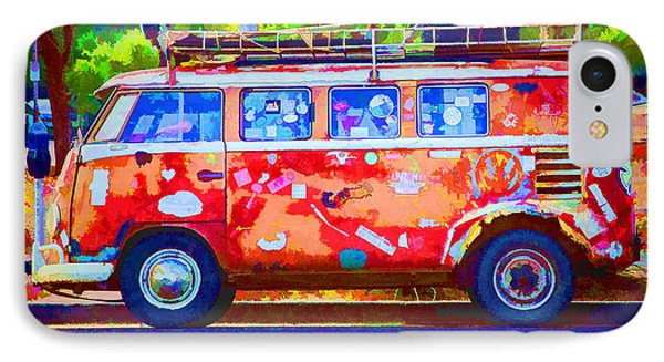 IPhone Case featuring the photograph Hippie Van by Jaki Miller