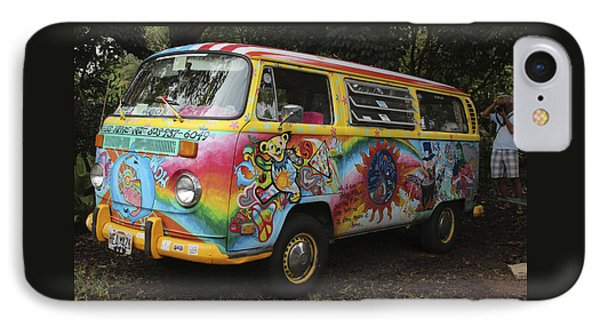 Vintage 1960's Vw Hippie Bus IPhone Case by Venetia Featherstone-Witty