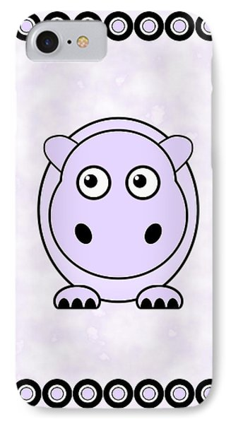 Hippo - Animals - Art For Kids IPhone Case by Anastasiya Malakhova