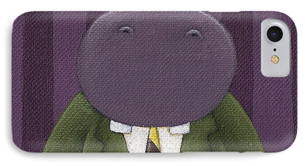Hippo Nursery Art Phone Case by Christy Beckwith