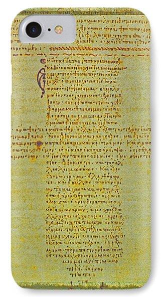 Hippocratic Oath On Vintage Parchment Paper IPhone Case by Eti Reid