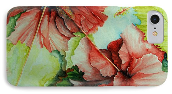 IPhone Case featuring the painting Hiroko's Hibiscus by Rachel Lowry