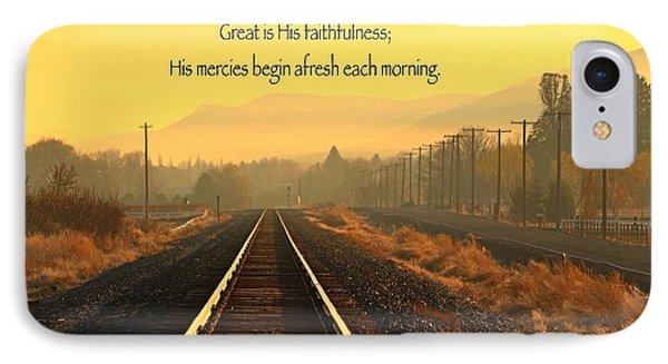 IPhone Case featuring the photograph His Mercies by Lynn Hopwood