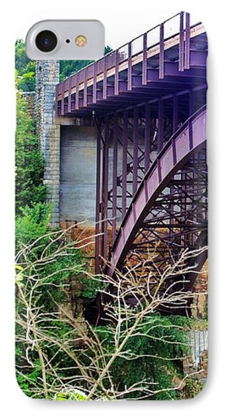 IPhone Case featuring the photograph Historic Ausable Chasm Bridge by Patti Whitten