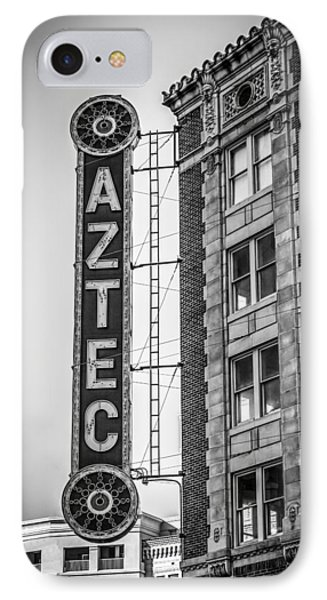 Historic Aztec Theater IPhone Case by Melinda Ledsome