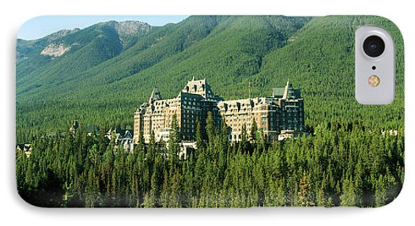 Historic Banff Springs Hotel In Banff IPhone Case by Panoramic Images