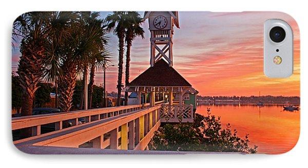 Historic Bridge Street Pier Sunrise IPhone Case by HH Photography of Florida