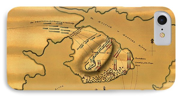 Historic Bunker Hill Battleground Map 1775 IPhone Case