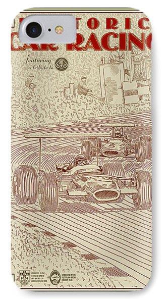 Historic Car Racing IPhone Case by Georgia Fowler