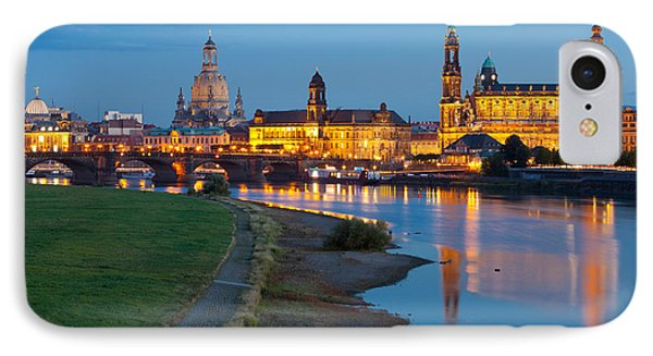 Historic Center Of Dresden At Dusk IPhone Case