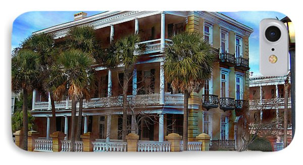 Historic Charleston Mansion IPhone Case by Kathy Baccari