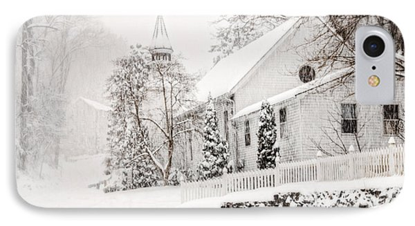 IPhone Case featuring the photograph Historic Church In Oella Maryland During A Blizzard by Vizual Studio