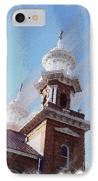 Historic Church Steeples IPhone Case by Bobbee Rickard