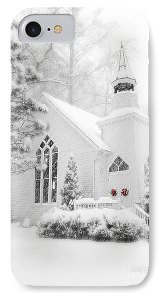 IPhone Case featuring the photograph White Christmas In Oella Maryland Usa by Vizual Studio