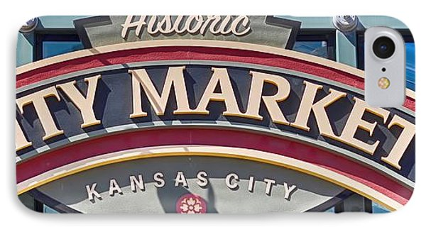 Historic City Market Sign  IPhone Case