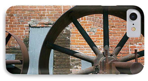 Historic Flour Mill Machinery IPhone Case by Jim West