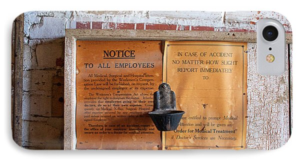 Historic Flour Mill Notice IPhone Case by Jim West