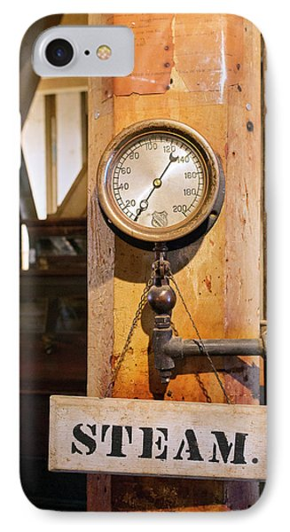 Historic Flour Mill Steam Gauge IPhone Case by Jim West