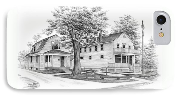 IPhone Case featuring the drawing Historic Jaite Mill - Cuyahoga Valley National Park by Kelli Swan