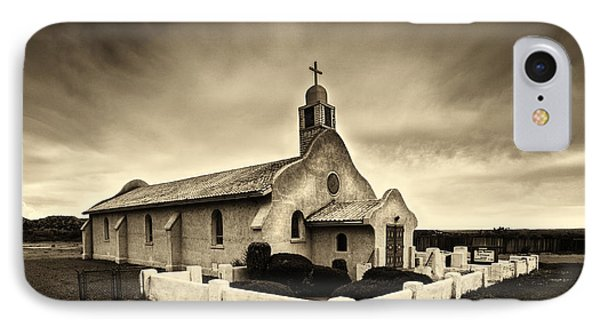 Historic Old Adobe Spanish Style Catholic Church San Ysidro New Mexico IPhone Case