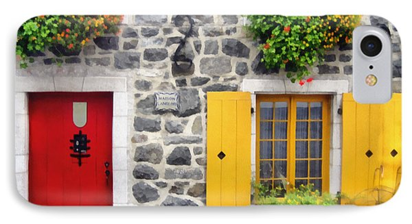 Historic Quebec City  Street Scene IPhone Case by Ann Powell