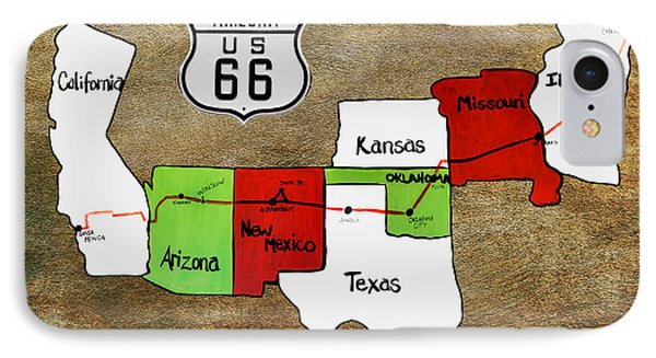Historic Route 66 - The Mother Road Phone Case by Christine Till