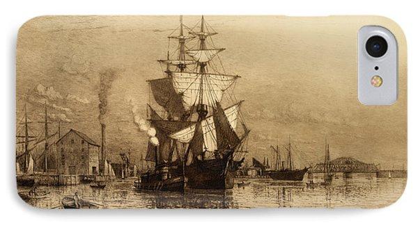 Historic Seaport Schooner Phone Case by John Stephens