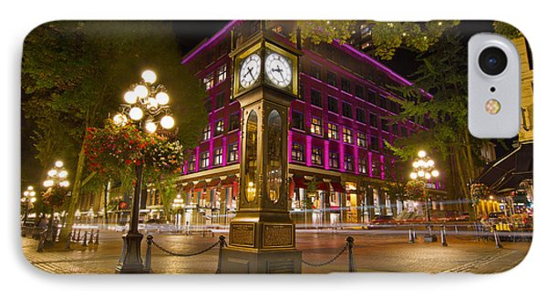 Historic Steam Clock In Gastown Vancouver Bc IPhone Case by Jit Lim