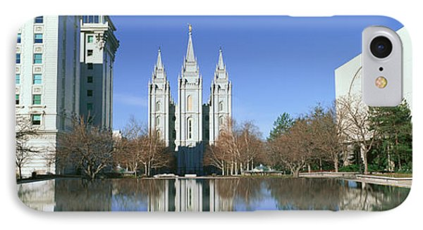Historic Temple And Square In Salt Lake IPhone Case by Panoramic Images