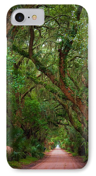 Historic Tree Lined Roadway IPhone Case by Joel Leslie