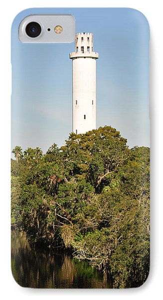 Historic Water Tower - Sulphur Springs Florida IPhone Case by John Black