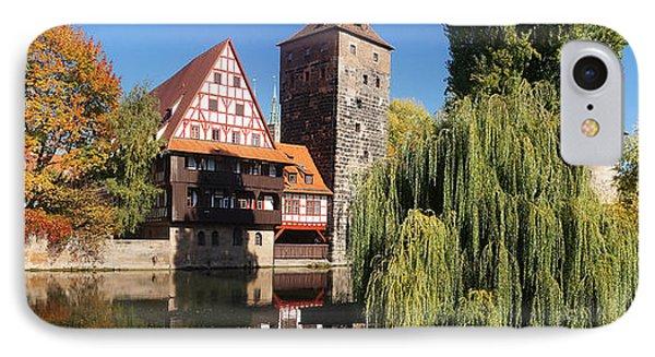 historic winestorage and executioner bridge in Nuremberg Phone Case by Rudi Prott