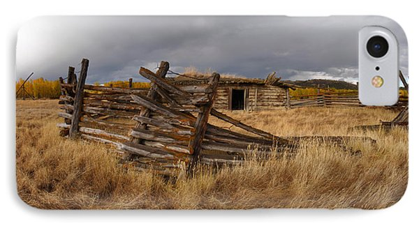 Historical Cabin Montana IPhone Case by Leland D Howard