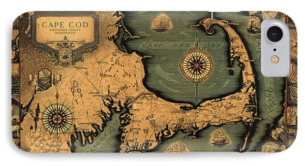 Historical Map Of Cape Cod IPhone Case by Andrew Fare