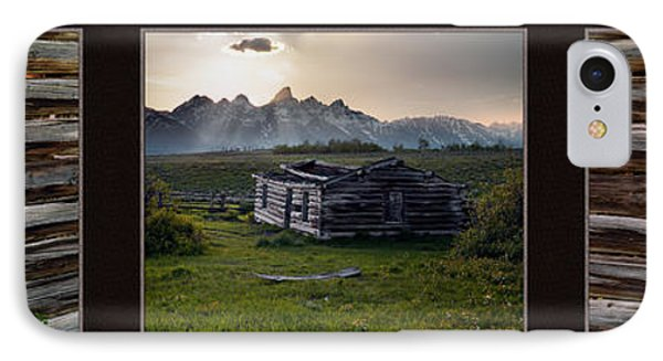Historical Taylor Cabin Triptych IPhone Case by Leland D Howard